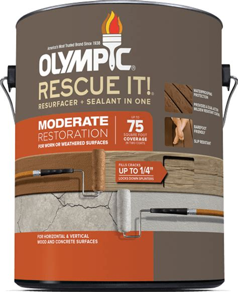 Olympic Deck Cleaner Ingredients by Olympic 174 Rescue It 174 Moderate Resurfacer Sealant In One