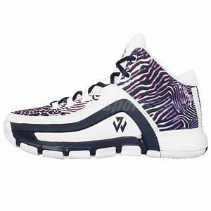 Adidas J Wall 2 J John Wall White Navy Zebra Print Kids ...