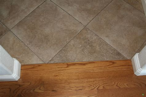 indoor tile to hardwood transition trends tile to