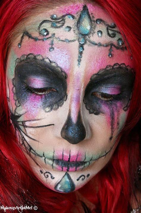 artist  broken catrina halloween makeup