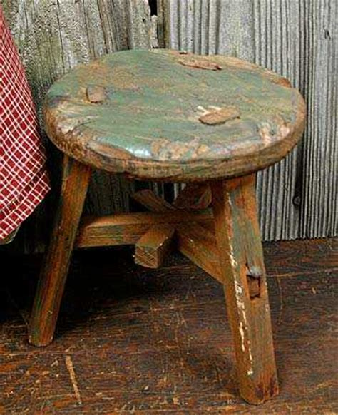 vintage antique    work milking stool doll