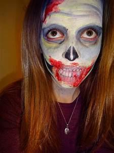 Zombie face paint   Joss' Makeup  Zombie