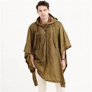 J.crew Wallace & Barnes Hooded Military Rain Poncho in ...