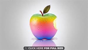 Rainbow Apple HD 1080p wallpaper