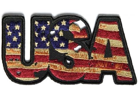 Vintage Style Usa American Flag Motorcycle Biker Leather