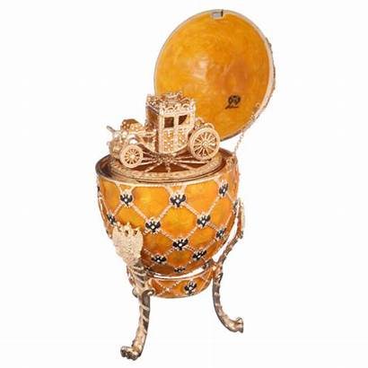 Faberge Carriage Egg Trinket Arms Russian Decorative