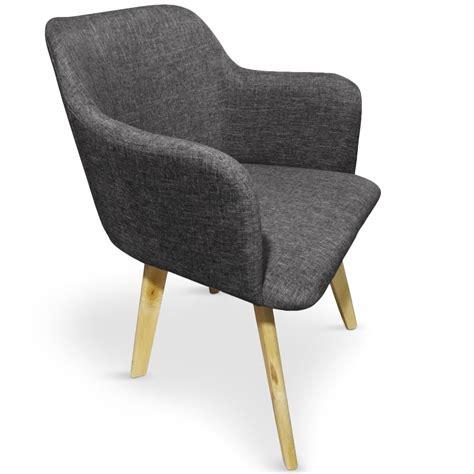 chaise tissu gris chaise tissu gris foncé kandi lestendances fr