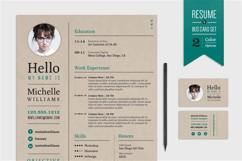 creative business resume format creative resume business card set resume templates on creative market