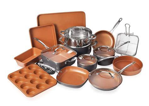 gotham steel  piece    kitchen cookware bakeware set  nonstick durable ceramic