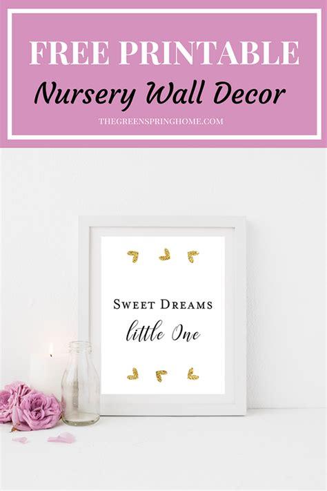 printable nursery wall decor  greenspring home