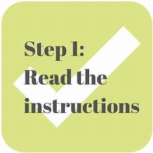 Instead Of Failing  Read The Instructions