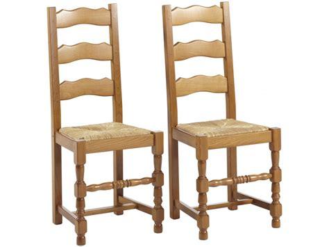 recouvrir une chaise en paille lot de 2 ou 6 chaises seguin hêtre massif teinte chêne