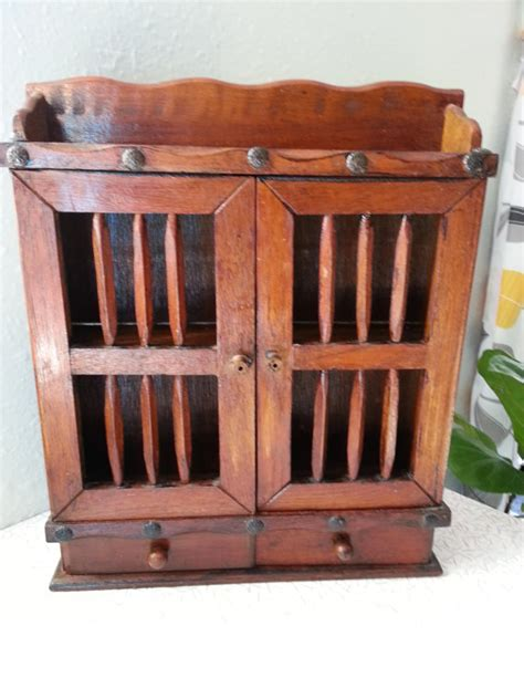 small table top curio cabinet small vintage table top or hanging curio by