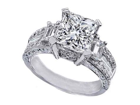 princess cut engagement rings vintage princess cut engagement ring ipunya