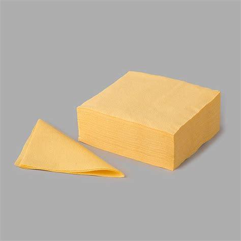Papīra salvetes 33x33cm, dzeltenas, vienslāņu, iepakojumā ...