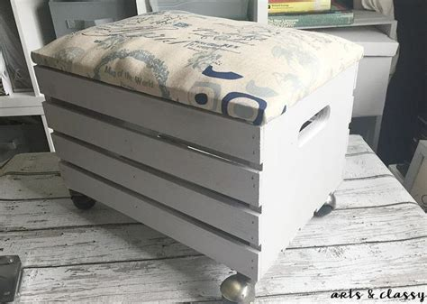 create  wooden crate rolling storage ottoman storage ideas woodworking projects