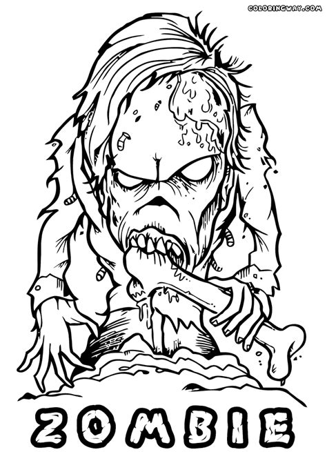 zombie coloring pages print colorings