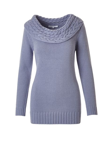 lilac sweater lilac marilyn neck cable tunic sweater cleo