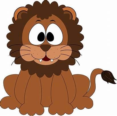 Lion Cartoon Clip Clipart Loin Inkscape Head