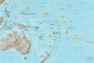 South Pacific Ocean Map