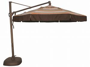 Treasure garden cantilever aluminum 1139 foot wide crank for Garden treasures patio umbrella cover