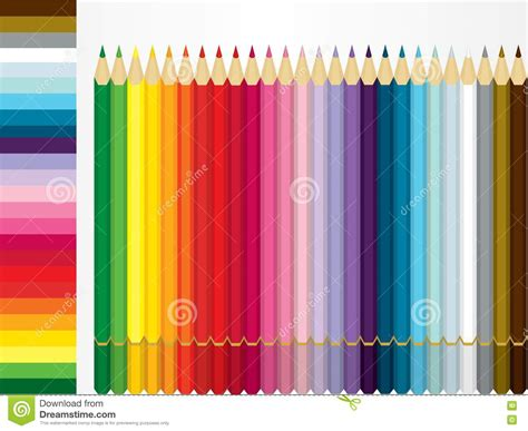 color pencil set  shade sample stock images image