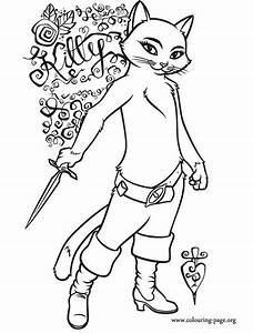 Puss In Boots Kitty Softpaws Coloring Page