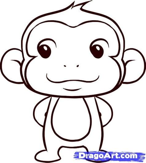 easy monkey sketches google search baby stuff