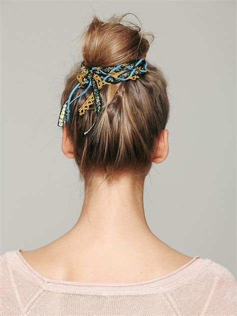 hair styles for with thin hair braided fabric bun hair wraps 7086