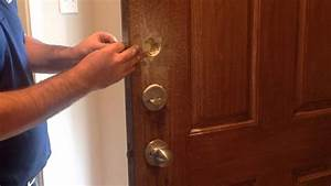 How To Installing Keyless Deadbolt One Sided Deadbolt