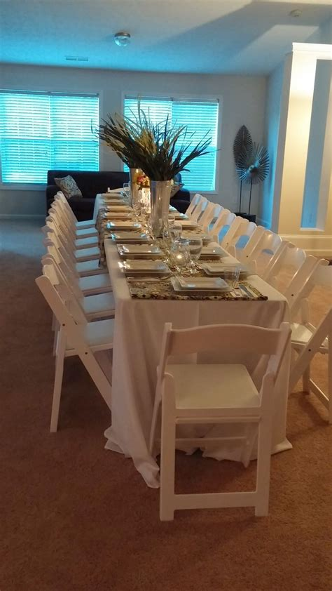 great formal dinner atlanta rental white resin chair