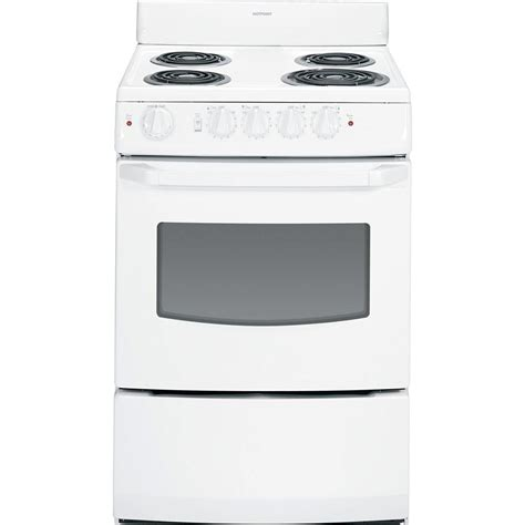 hotpoint    cu ft electric range  white