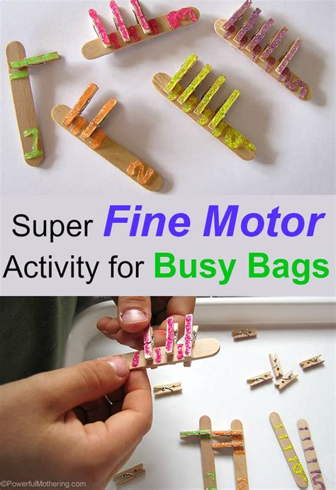 super fine motor activity  busy bags