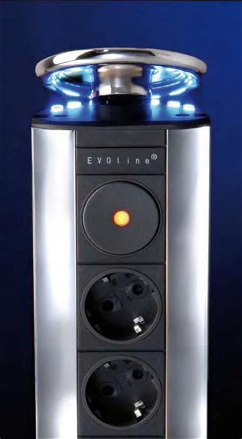 plan de travail escamotable cuisine evoline module multiprises escamotable conforme fr be inox led