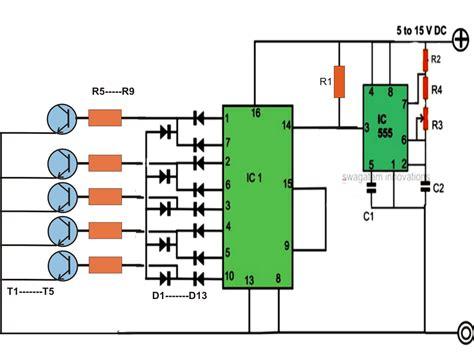 200 Led Reverse Forward Light Chaser Circuit For Diwali