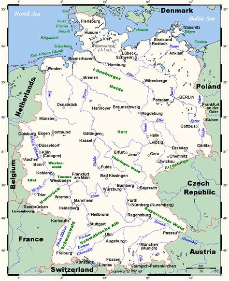 (deutschland) mein herz in flammen will dich lieben und verdammen (deutschland) dein atem kalt so jung und doch so alt (deutschland). Landkarte Deutschland Politische | Landkarte Deutschland ...