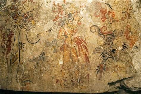 kenneth garrett maya mural at san bartolo national