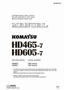 Komatsu Machine Model Hd465