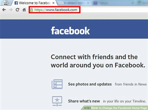 How To Change The Facebook Home Page