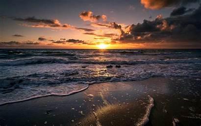 Wallpapers Ocean Waves Olas Mar Sunset Sunrise