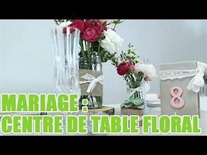 Nom De Table Mariage Champetre : r aliser un centre de table champ tre pour votre mariage youtube ~ Melissatoandfro.com Idées de Décoration