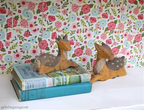 Floral Decoupage Bookcase With Napkins