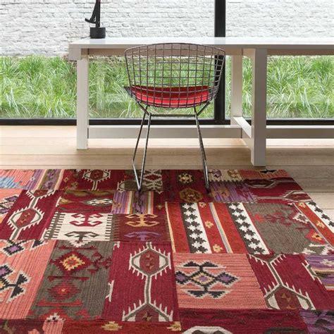 tapis haut de gamme patchwork en laine par ligne pure