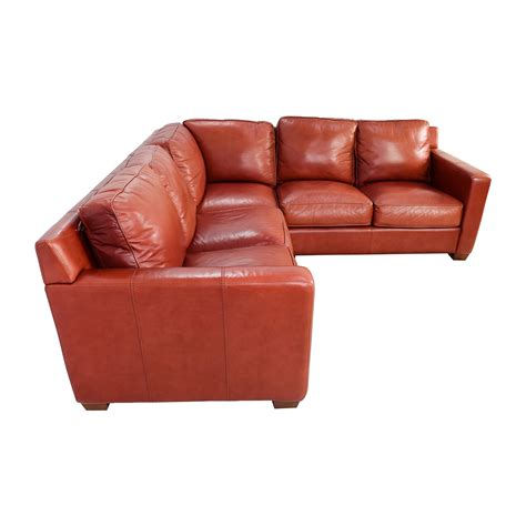 thomasville leather sofa prices 68 off thomasville thomasville red leather sectional