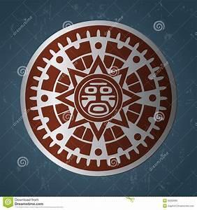 Maya sun stock illustration. Illustration of inca, cycle ...