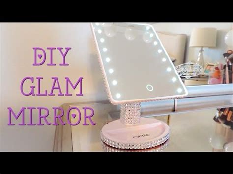 Diy Glam Mirror (super Cheap!)  Youtube