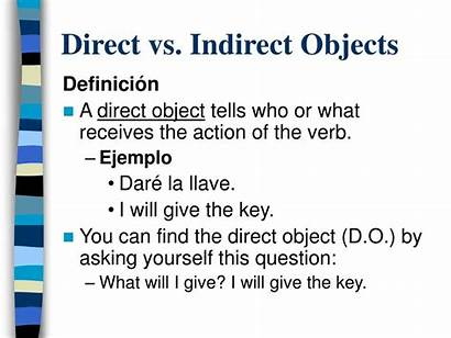 Direct Indirect Object Vs Pronouns Te Objects