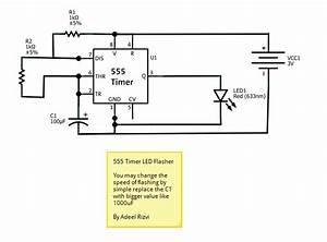 Fritzing Project  U2013 555 Timer Led Flasher