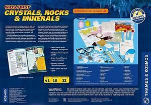 Kids First Crystals  Rocks  U0026 Minerals Science Kit