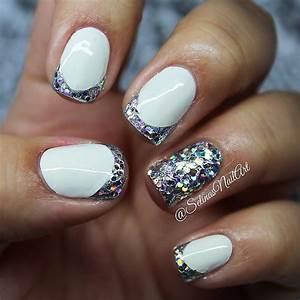 50 most beautiful glitter tip nail design ideas